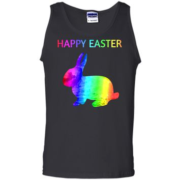 Happy Easter - Easter Bunny water color rainbow Rabbit Tank Top