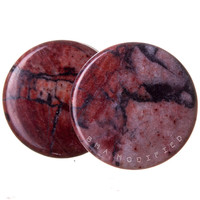 Brick Jasper Plugs (2mm-25mm)