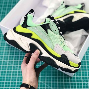 Balenciaga Tripl S Trainers Apple Green Black Sneaker - Best Online Sale