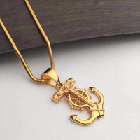 Shiny Stylish Jewelry New Arrival Gift Gold Necklace [6542741315]