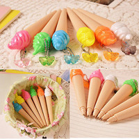 6PCS Fresh sweet candy color ice cream gel pen creative pen stationery