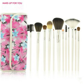 12 Pcs/set Professional Makeup Brushes Set Cosmetics Brushes Practical Makeup Powder Brushes Soft Cosmetic High Quality Makeup