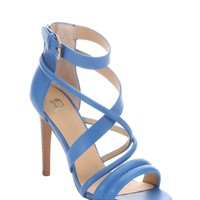 Blulea Leather Robbie Strappy Stacked Heel Sandals