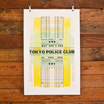 Tokyo Police Club Poster (05.02-03)