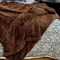 Oh So Soft Chocolate Queen-size Microfiber Blanket