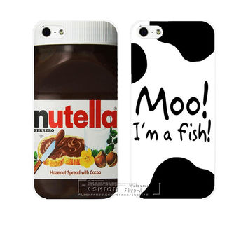 New Nutella Moo Design Hard Plastic Case Cover for Apple iPhone 4 4S 4G 5 5S SE 5C 6 6S 7 Plus 6SPlus Free Shipping Shell
