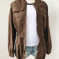 ROSA PARKA JACKET- BROWN