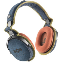 HOUSE OF MARLEY EM-JH063-BD Rise Up(TM) Over-Ear Headphones with 3-Button Microphone (Blue Denim)