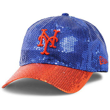 New York Mets Women s Victoria s Secret PINK® Bling 9FORTY Adjustable Cap  by New Era - bcedf8f0b8