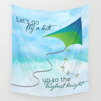 Let's Go Fly a Kite! Wall Tapestry by Noonday Design