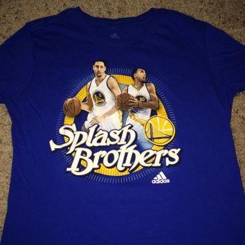 Sale!! Adidas Golden State Warriors basketball t-shirt Splash brothers tee - Stephen C