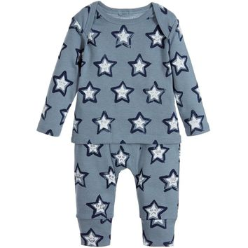 Stella McCartney Baby Grey-Blue Stars Set