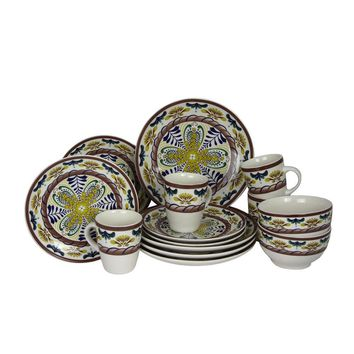 Elama Countryside Sunrise 16-Piece Stoneware Dinnerware Set