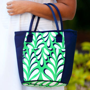 Drink In My Hand - Island Palm Cooler Tote | Driftwood Market