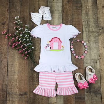 RTS Cute Farm in Pink Girls Short Outfit D22