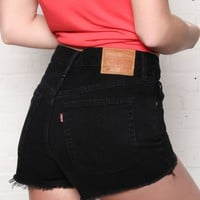 Levi's 501 High Rise Shorts - Darkest Hour