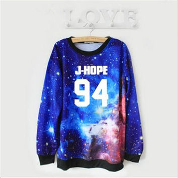 k-pop BTS 94 J-HOPE sky women autumn and winter sweater kpop Bangtan Boys fashion long sleeved Hoodies = 1946234052