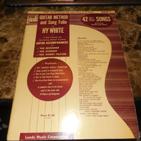 Vintage Guitar Lessons Vintage Music Book Guitar Method & Song Folio Hy White 1954 42 Songs Tony Bennett - Danny Kaye - Bing Crosby and More