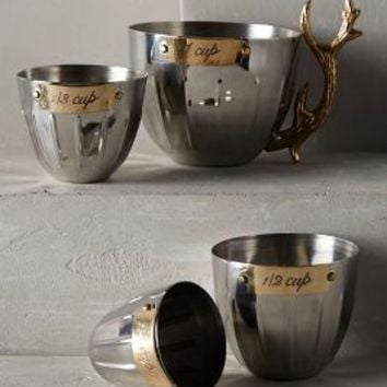 Nordic Elk Measuring Cups by Anthropologie Bronze One Size House & Home