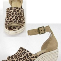 Charmayne Leopard Wedge Shoes