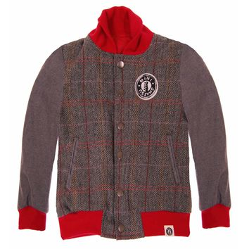 Red Tweed Letterman Jacket by: Mini Shatsu