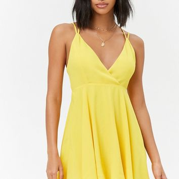 Crisscross Surplice Dress