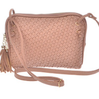All Tied Up Crossbody- Nude