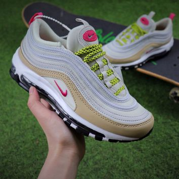 Best Online Sale Nike Air Max 97 Light Bone Deadly Pink Mushroom Sport Runnig Shoes 921733-004