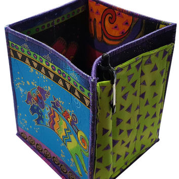 Desk Organizer in Laurel Burch Dogs Fabrics