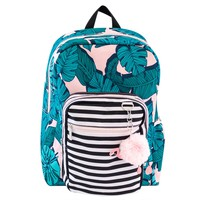 Yoobi™ Standard Backpack 2.0 with Pom Pom Keychain - Flamingo/Palm