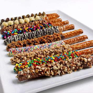 Gourmet Chocolate Covered Pretzel Rods... Wedding Favors, Parties, Baptism, Baby Shower… LIMITED TIME SALE