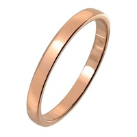 Gold Flat Tungsten Wedding Ring