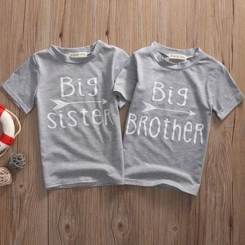 Big Sister. Big Brother. Baby Kid Child Toddler Newborn T-shirt