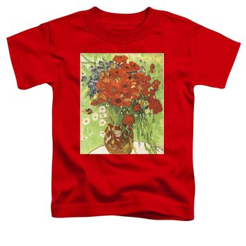 Vincent Van Gogh Poppies With Daisies - Toddler T-Shirt