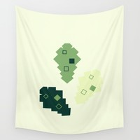 oak leaves. cubistic. Wall Tapestry by Ia Po