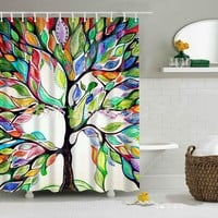 Tree Bathroom Shower Curtain