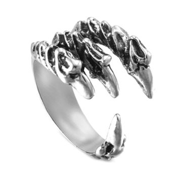 Fashion Men's Opening Talon Rings Mystery Jewelry Gothic Punk Antique  Eagle Claw Ring