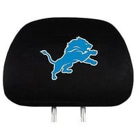 Detroit Lions 2-pack Black Elastic Auto Head Rest Covers Cover NFL Football PRO