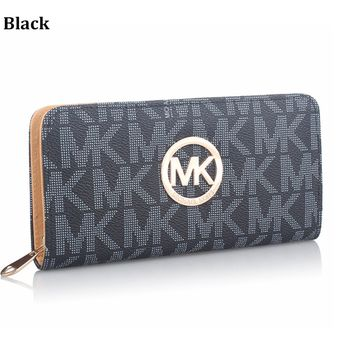 MK MICHAEL KORS Fashion Women's Zipper Wallet Wallet Clutch Bag Crossbody Bag black