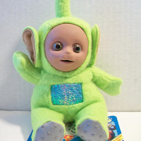 Teletubbies Dipsy Beanie Toy 1996 Green Stuffed Doll BBC