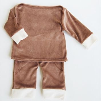 Bamboo Velour Baby Jumper and Pant Sets