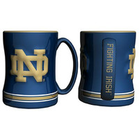 Notre Dame Fighting Irish NCAA Coffee Mug - 15oz Sculpted (Single Mug)