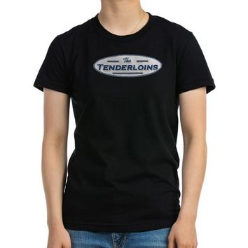 The Tenderloins Ash Grey Women's Fitted T-Shirt (dark)
