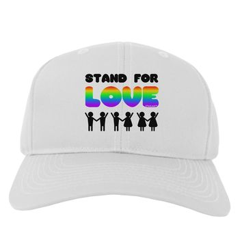 Stand For Love Rainbow Adult Baseball Cap Hat