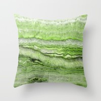 Mystic Stone - Grassy Throw Pillow by Lisa Argyropoulos | Society6