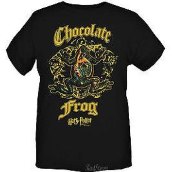 Licensed cool NEW Harry Potter And The Deathly Hallows Chocolate Frog T-Shirt Men's Tee SMALL