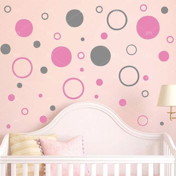 Circle Polka Dots Round Wall stickers DIY Vinyl decals for kids room home Living room nursery decoration Wall Art Mural