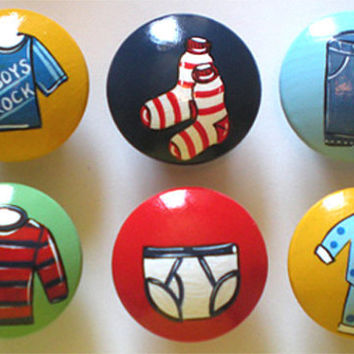 Kids Boys Wardrobe Drawer Knobs Nursery Cabinet Pulls