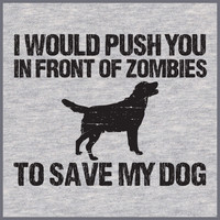 Push You In Front Of ZOMBIES To Save My DOG TEE