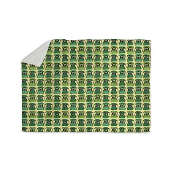 "Holly Helgeson ""Vintage Telephone"" Green Pattern Sherpa Blanket"